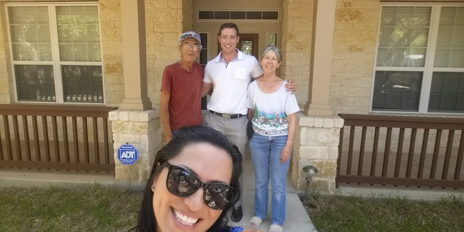 Selfie with our Clients in their new home!